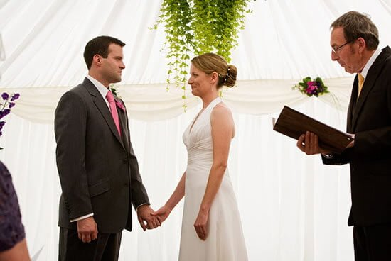 The wedding ceremony is the moment you become legally married to your partner.