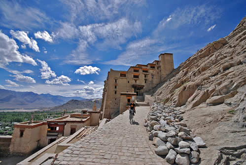 Head to the town of Leh in Ladakh.