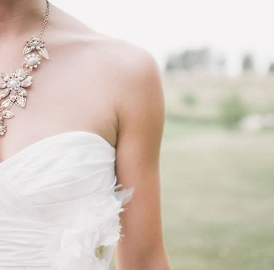 One aspect of wedding shopping is jewellery and accessories!